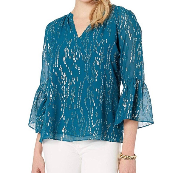 Lilly Pulitzer Tops - Lilly Pulitzer inky tidal blouse